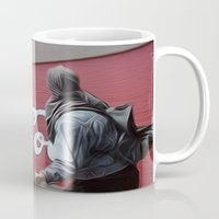 coca cola Mugs featuring Coca Cola Wars by Vin Zzep