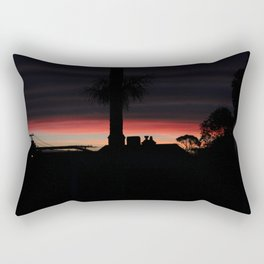 Backyard Sunset Rectangular Pillow