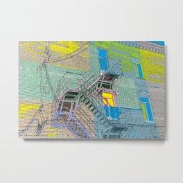 facade with fire escape Metal Print
