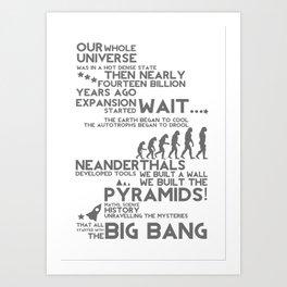 Big Bang Theme Art Print