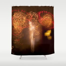 Brooklyn Fireworks, Huge firework display in NYC Shower Curtain
