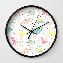 Dinosaur Pattern Wall Clock