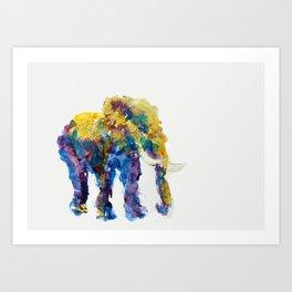 Abstract painting animal Elephant Art Print