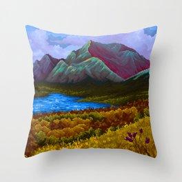 Mountain v2 Throw Pillow