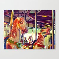 racing Canvas Prints featuring Still racing by Vorona Photography