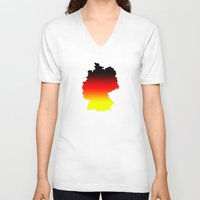 germany V-neck T-shirts featuring Germany by Fabian Bross