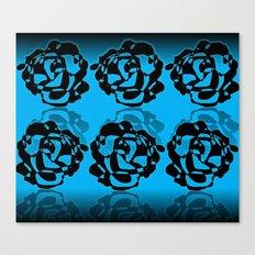 Black roses.Template. Canvas Print