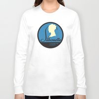 silhouette Long Sleeve T-shirts featuring Silhouette by One Little Bird Studio