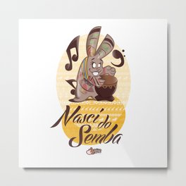 Bunny Rhythm Metal Print