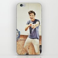 louis tomlinson iPhone & iPod Skins featuring Louis Tomlinson by Haley Nicole