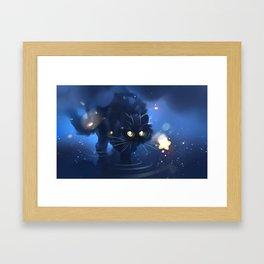 Above stars Framed Art Print