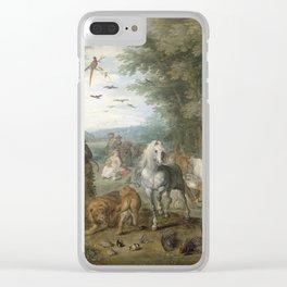 Jan Brueghel - Paradise Landscape With The Animals Entering Noahs Ark Clear iPhone Case