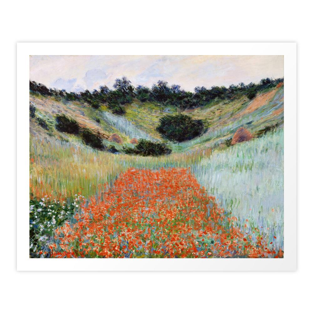 Poppy Field In A Hollow Near Giverny By Claude Monet Art Print by palazzoartgallery