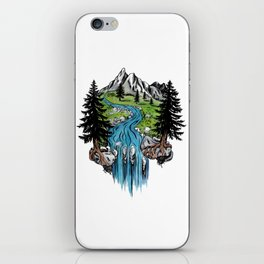Cascade Meadow iPhone Skin