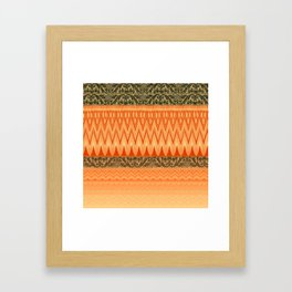crochet mixed with lace in warm mood Framed Art Print