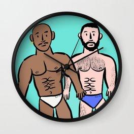 Beard Boy: Sam & Hector Wall Clock