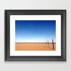 The beach of Valencia is a paint by Dalì Framed Art Print