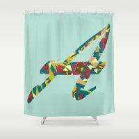 font Shower Curtains featuring A font by riz lau