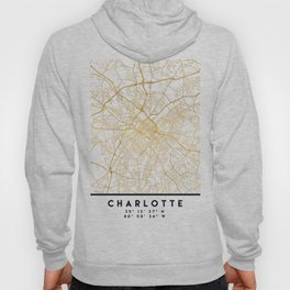 CHARLOTTE NORTH CAROLINA CITY STREET MAP ART Hoody