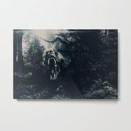 T-rex Attack Night edition Metal Print