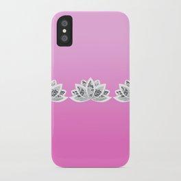 fuchsia lotus iPhone Case
