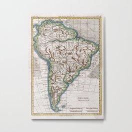 Vintage Map of South America (1780) Metal Print