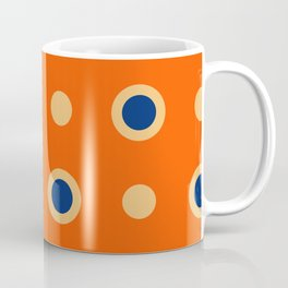 Polka Dot Pattern 241 Orange Blue Coffee Mug
