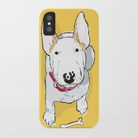 bull terrier iPhone & iPod Cases featuring bull terrier by bbay