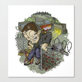 Adrenaline Rush (Elements Of Graffity series) Canvas Print