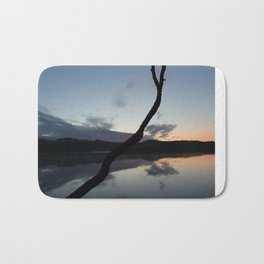 Sunset on lake, Nature Photography, Landscape Photos, sunset photos Bath Mat