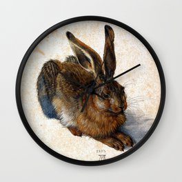 Albrecht Durer Young Hare Wall Clock