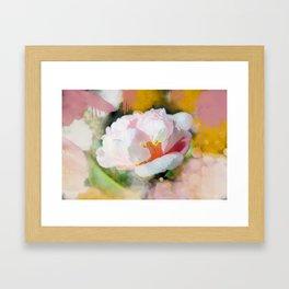 Petals of Pink Watercolor Framed Art Print