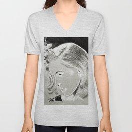 Lauren Bacall Unisex V-Neck