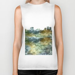 Anchorage Skyline Alaska Biker Tank