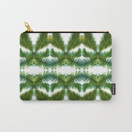 Palm Leaf Kaleidoscope (on white) #1 Carry-All Pouch