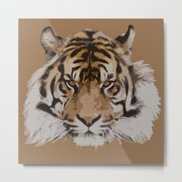 Fierce Tiger Stare Metal Print