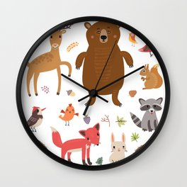 Forest Critters Wall Clock