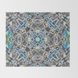 Colorful Geometric Structure Throw Blanket