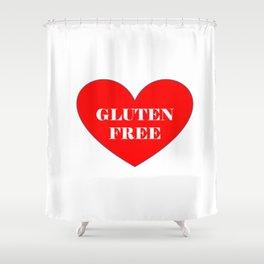 GLUTEN FREE HEART Shower Curtain