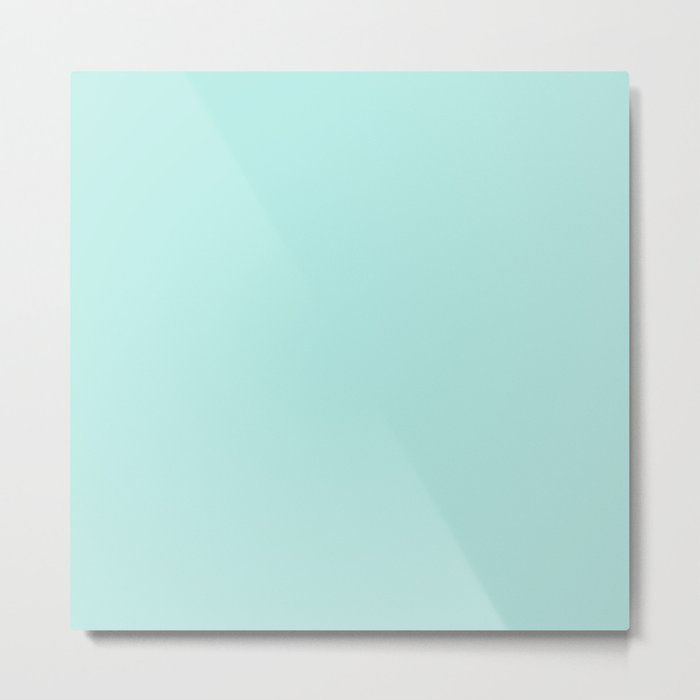 Simply aqua turquoise blue lightblue color - Mix and Match with Simplicity of Life on #Society6 Metal Print