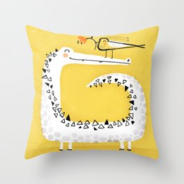 CROCODILE GIFT Throw Pillow