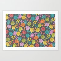 roses Art Prints featuring ROSES by Bianca Green