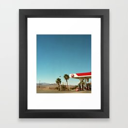 76 and Palm Framed Art Print