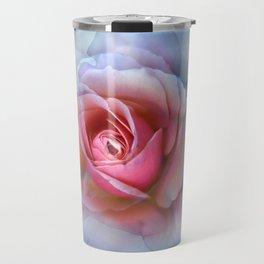 bed of roses: robin's egg blue ghost Travel Mug