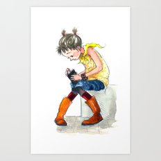 Boots 'n Books Art Print