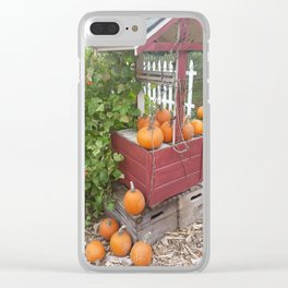 Pumpkins by the Well Clear iPhone Case