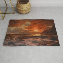 Sunrise over the Sea by Ivan Fedorovich Choultsé Rug