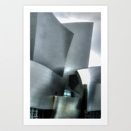 Abstract / Architecture photography of the Walt Disney Concert Hall 7 Art Print