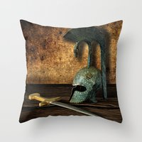 medieval Throw Pillows featuring Medieval by David gonzalez