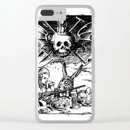 Alice's Dark Tea Party Clear iPhone Case
